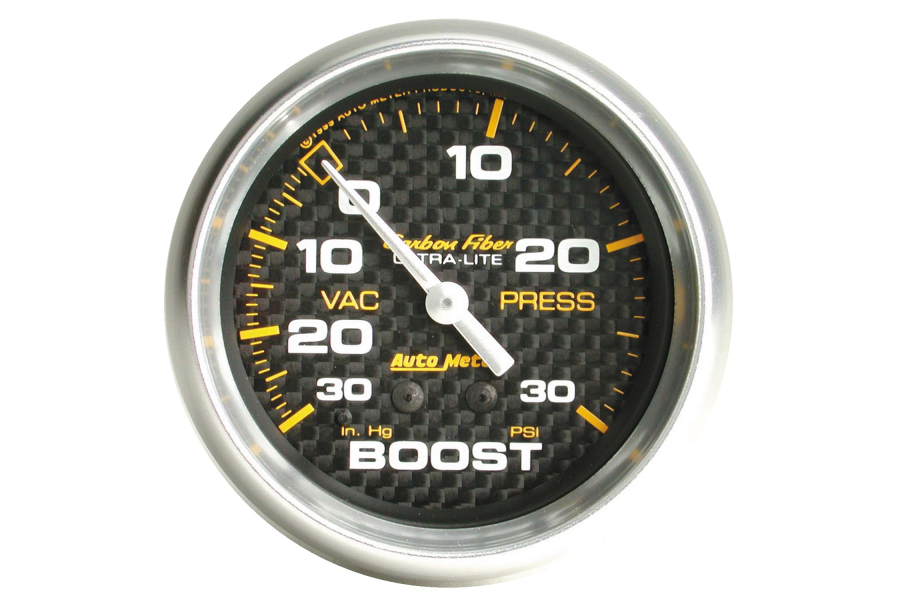 Autometer Carbon Fiber Boost Gauge Mechanical 52mm - Universal