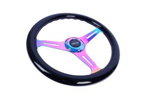 NRG Classic Wood Grain Wheel 350mm Neochrome / Black - Universal