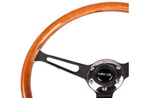 NRG Reinforced Classic Wood Grain Wheel 360mm Chrome - Universal