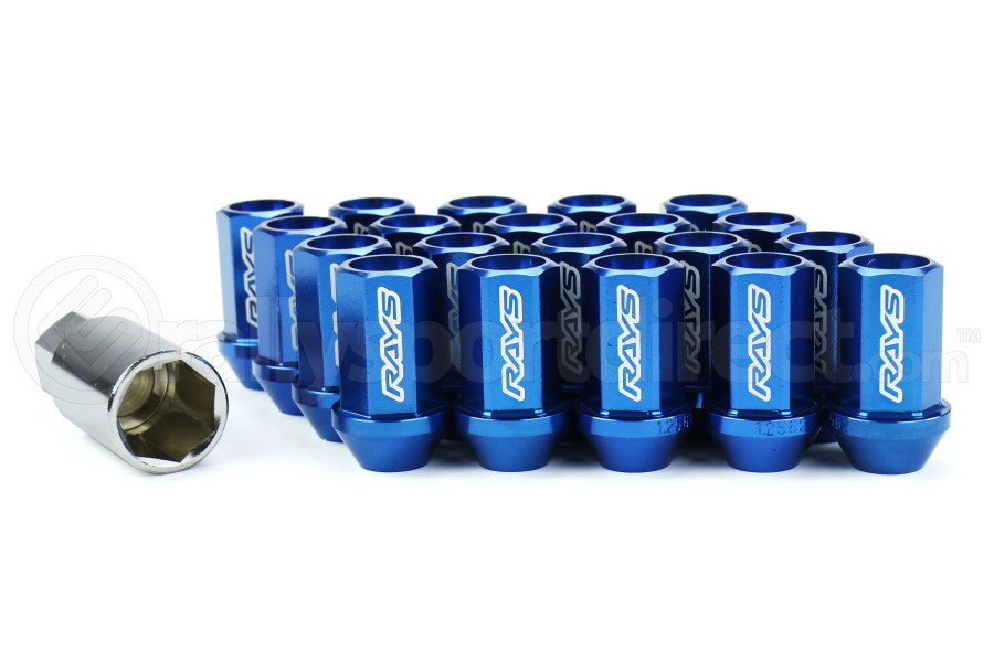 Volk Racing Dura-Nut 12MX1.25 Lug Nut Set Blue (Part Number:WDURA4212125U)