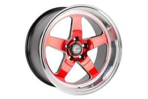 Cosmis Racing Wheels XT-005R 18x9 +25 5x114.3 Red w/ Machined Lip - Universal