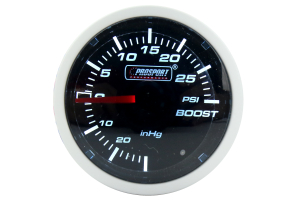 ProSport Mechanical Boost Gauge Blue/White 52mm ( Part Number: 216BFWBBOSM.PSI)