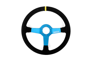 Sparco Monza L550 Black/Blue Suede Steering Wheel ( Part Number: 015TMZS1)