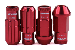 Work Wheels RS-R Lug Nuts M12x1.25 Red Open End - Universal