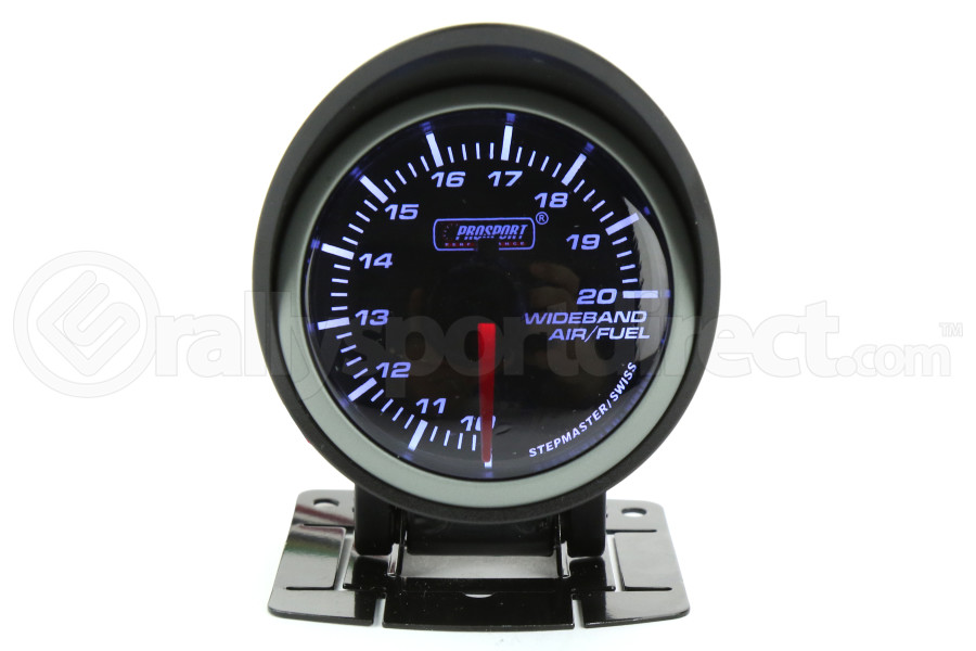 ProSport Wideband Air Fuel Ratio Gauge w/O2 Sensor Amber/White 52mm (Part Number:216SMWAAFR-WO-SF)