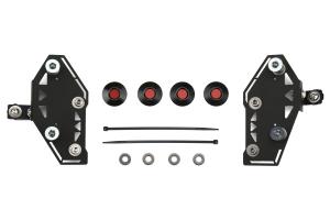Move Over Racing Bumper Kit No Logo- Black w/ Red Button - Subaru WRX/STI 2015+