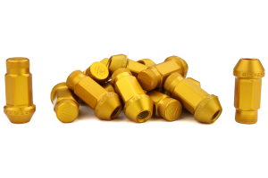 Password JDM Gold Lug Nuts Closed Ended 16pc 12x1.5 - Universal