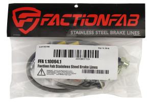 FactionFab Front Stainless Steel Brake Lines - Subaru Models (inc. 2004-2007 STI / 2006-2007 WRX)