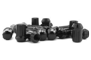 Gorilla Small Diameter Aluminum Closed End Black Lug Nuts 12x1.25 (Part Number: )