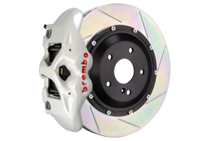 Brembo GT Systems Monobloc 4 Piston 345mm Slotted White - Honda Civic Type R/SI 2017+