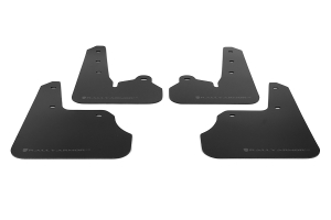 Rally Armor UR Mudflaps Black Urethane Grey Logo (Part Number: MF22-UR-BLK/GRY)