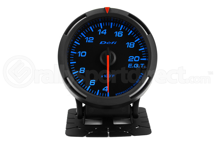 Defi Blue Racer EGT Exhaust Gas Temperature Gauge Imperial 60mm 400-2000F (Part Number:DF11801)