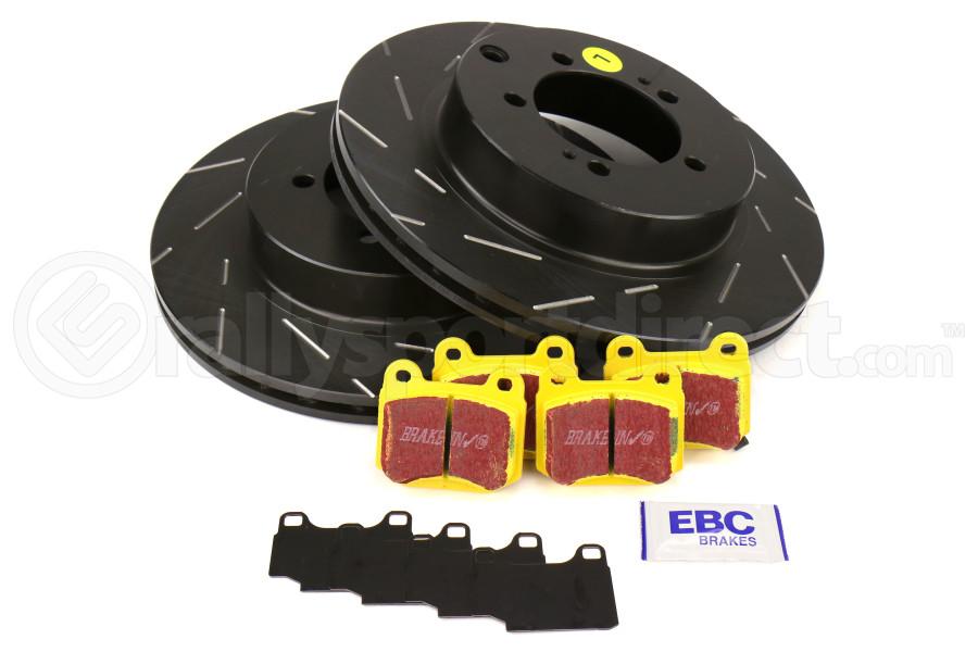 EBC Brakes S9 Rear Brake Kit Yellowstuff Pads and USR Rotors - Mitsubishi Evo 8/9 2003-2006