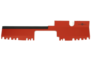 Process West Radiator Cover Red Factory Intake ( Part Number:PRW PWED03R)