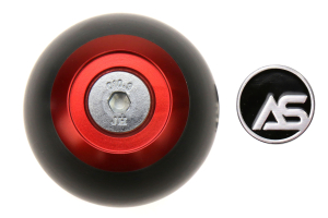 AutoStyled 6 Speed Shift Knob Red w/ Black Delrin Center ( Part Number:ASA 1501010201)