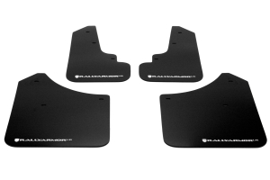 Rally Armor UR Mudflaps Black Urethane White Logo ( Part Number: MF5-UR-BLK/WH)