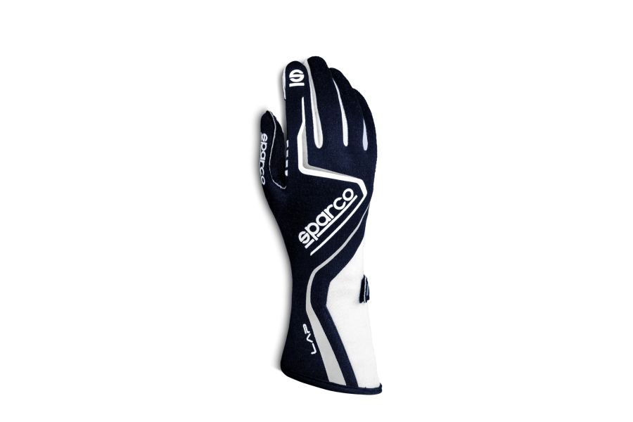 Sparco Lap Racing Gloves Navy / White - Universal