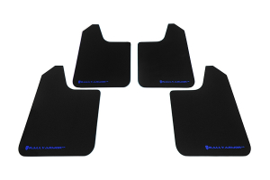Rally Armor Universal UR Mudflaps Black Urethane Blue Logo (Part Number: )