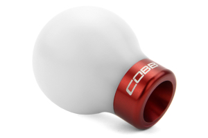 COBB Tuning Delrin Shift Knob White/Red (Part Number: )