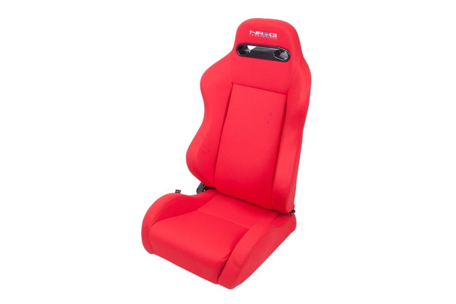 NRG Innovations Type R Cloth Sport Seats Red w/ Red Stitching (Pair) - Universal