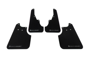 Rally Armor UR Mudflaps Black Urethane Silver Logo ( Part Number:RAL MF11-UR-BLK/SIL)