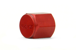 Volk Racing Rays Valve Stem Caps Red (Part Number: )