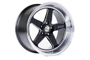 Cosmis Racing Wheels XT-005R 18x9 +25 5x114.3 Black w/ Machined Lip - Universal