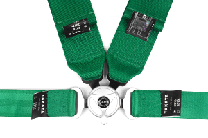 Takata Race 4 4-Point Harness Green Bolt-On (Part Number: 71001-H2)