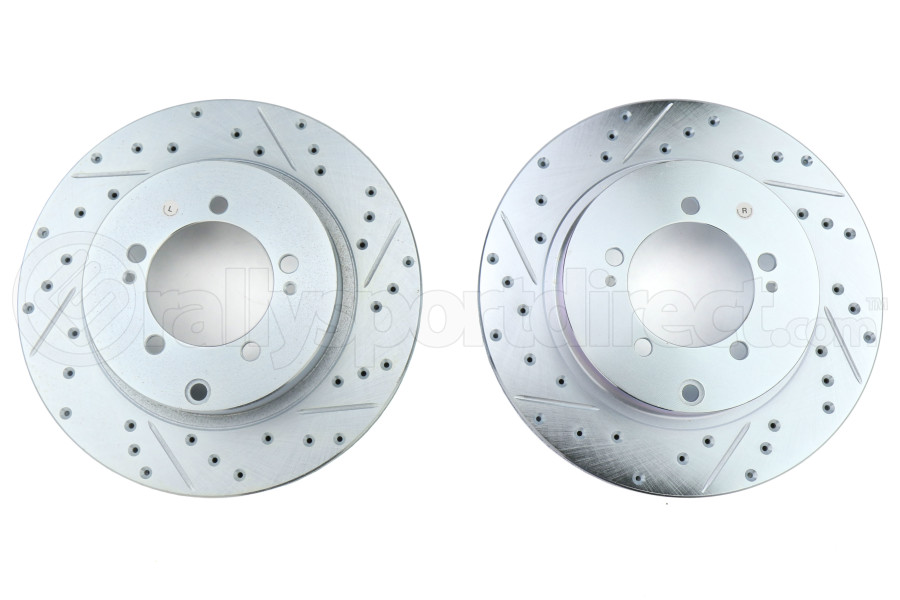 Stoptech C-Tek Sport Drilled and Slotted Rear Rotor Pair - Mitsubishi Evo 8/9 2003-2006