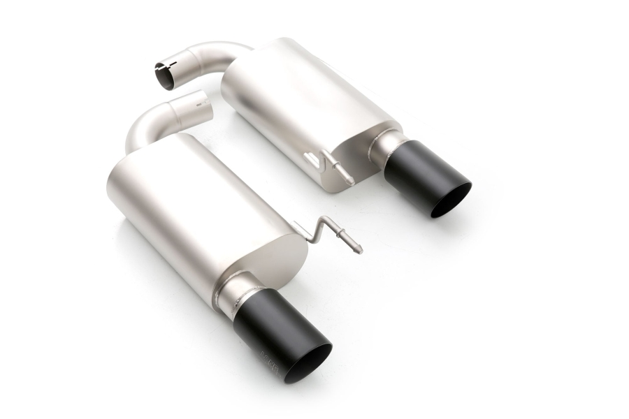 cp-e Austenite Axle Back Exhaust w/ Black Tips - Ford Mustang Ecoboost 2015+