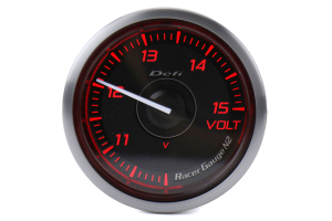 Defi DF Red Racer N2 Volt Gauge 52mm - Universal