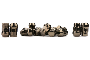 Muteki SR35 16+4 Closed Ended Chrome Titanium Lug Nuts 35mm 12x1.25 (Part Number: )