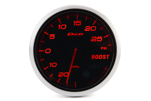 Defi Advance BF Red Boost 60mm Gauge w/ Control Unit 30 PSI (Part Number: )