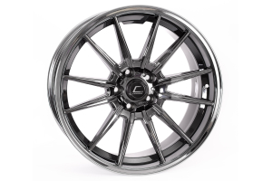 Cosmis Racing Wheels R1 18x9.5 +35 5x114.3 Black Chrome - Universal