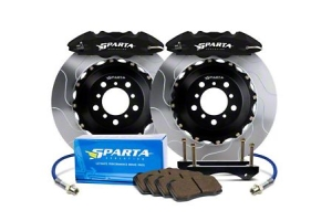 Sparta Evolution Saturn Rear Big Brake Kit w/ Powder Coated Calipers - Subaru STI 2004 - 2007
