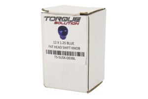 Torque Solution Fat Head Shift Knob Blue - Subaru 6MT Models (inc. 2004+ STI / 2015+ WRX)
