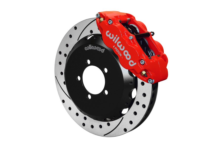 Wilwood FNSL6R 12.88in Front Kit Drilled / Slotted Red (Part Number:140-12870-DR)