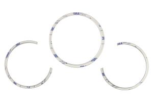 RSP Speedometer Trim Rings Silver (Part Number: )