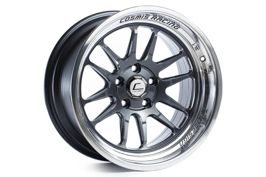 Cosmis Racing Wheels XT-206R 17x9 +5 5x114.3 Gunmetal w/ Machined Lip - Universal