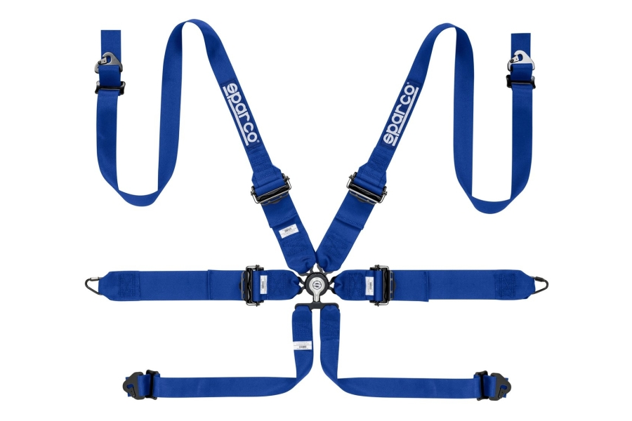 Sparco Belt 3 Inch 6-Point Hans Harness Blue - Universal