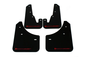 Rally Armor UR Mudflaps Black Urethane Red Logo (Part Number: )