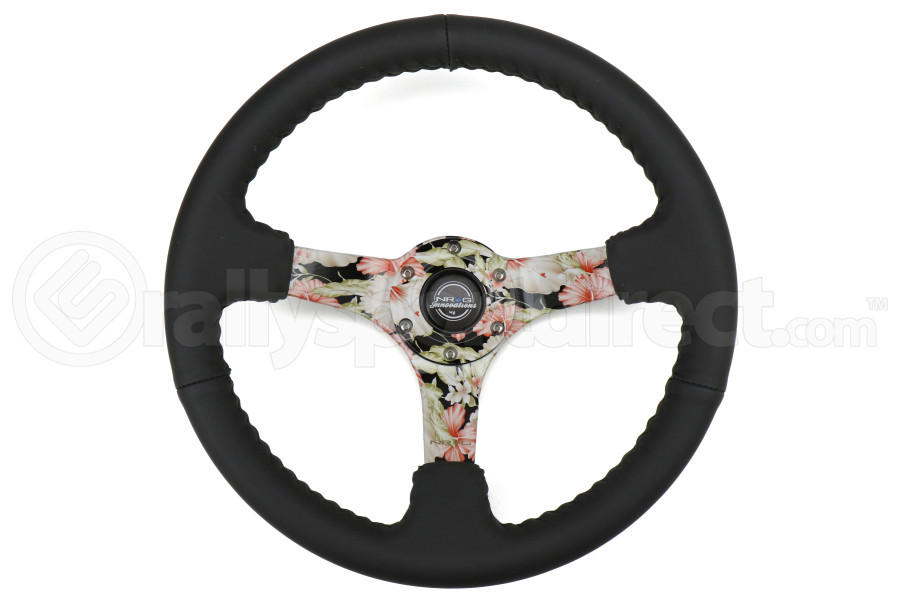 NRG Reinforced Steering Wheel 350mm 3in Deep Floral - Universal