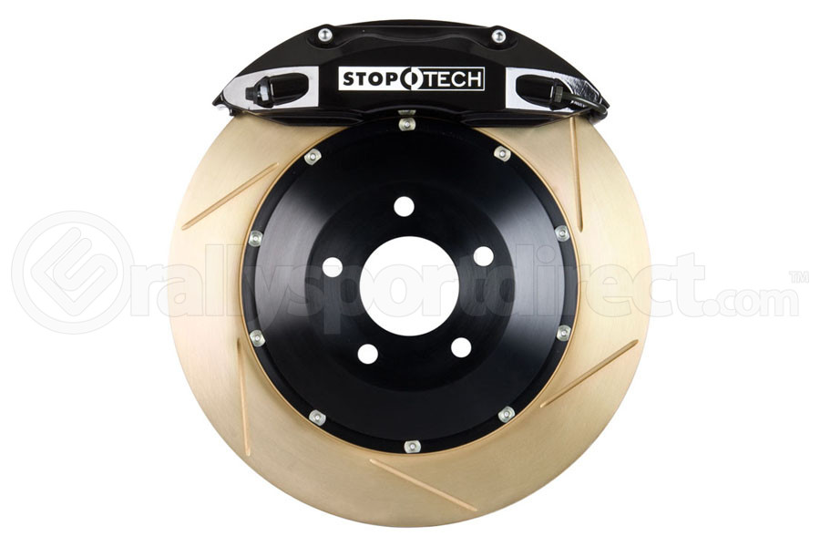 Stoptech ST-40 Big Brake Kit Front 332mm Black Zinc Slotted Rotors (Part Number:83.839.4600.53)