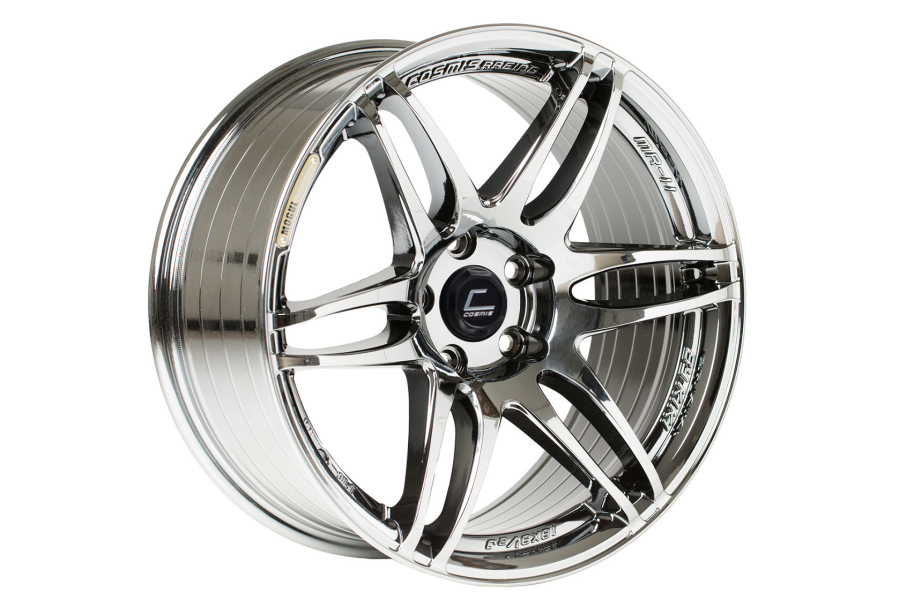 Cosmis Racing Wheels MRII 17x9 +10 5x114.3 Black Chrome - Universal