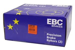 EBC Brakes USR Series Sport Slotted Rear Brake Rotors - Subaru Models (inc. 2002-2005 WRX / 1998-2008 Forester)