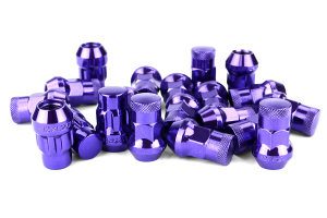 Muteki SR35 16+4 Closed Ended Chrome Purple Lug Nuts 35mm 12x1.25 ( Part Number:KIC 32925LP)