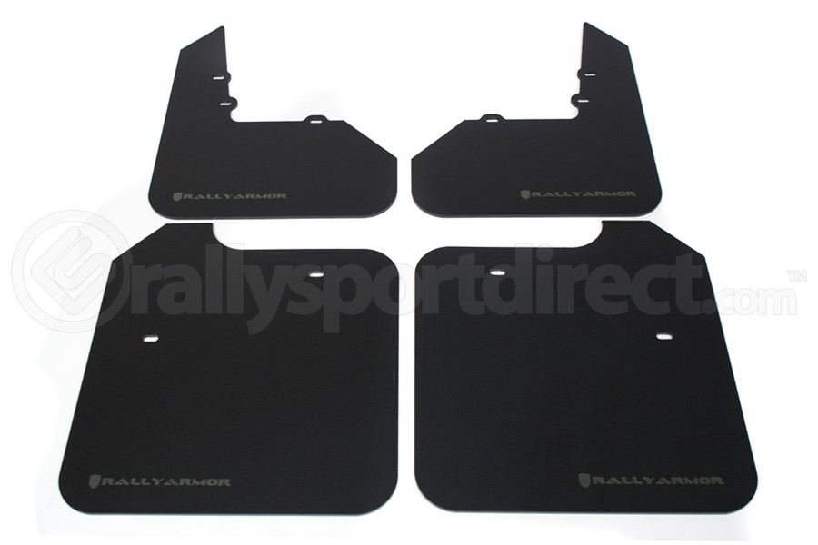 Rally Armor Classic Mud Flaps Grey Logo (Part Number:MF3-GRY)