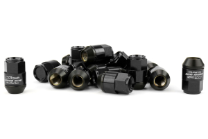 KICS Leggdura Racing Shell Type Lug Nut Set 35mm Closed-End Look 12X1.25 Black - Universal