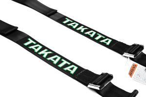 Takata Drift II 4-Point Harness Black Bolt-On (Part Number: 74001-0)