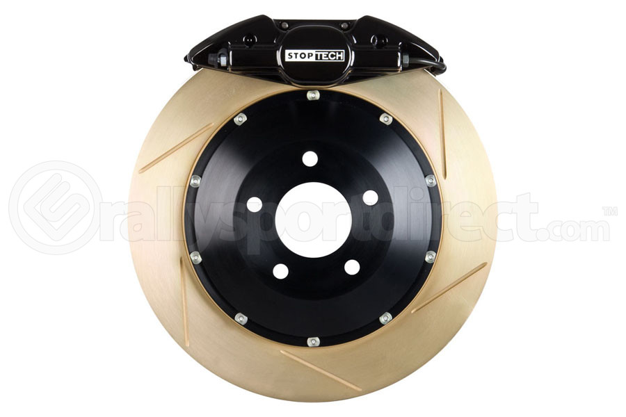 Stoptech ST-22 Big Brake Kit Rear 328mm Black Zinc Slotted Rotors (Part Number:83.836.0023.53)